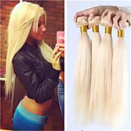 3pcs / lot varm försäljning blont hår väva honung blont brasilianskt hår rakt människohår vävning