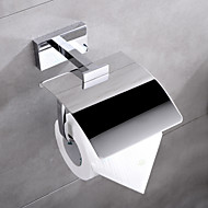 HPB® Contemporary Chrome Finish Brass Wall Mounted Toilet Paper Holder