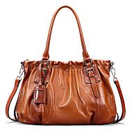 Handcee® Fold Leather Fashion Casual Big Bag Hand Shoulder Bag Messenger Bag