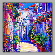 Square Size Pestrol Style Landscape OIl painting
