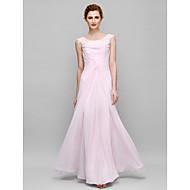 Lanting Sheath/Column Mother of the Bride Dress - Blushing Pink Floor-length Sleeveless Chiffon