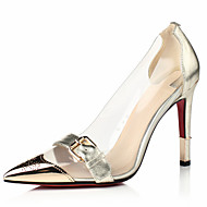 Women's Shoes Leather Stiletto Heel Pointed Toe Heels Party & Evening / Dress Black / Red / Gold