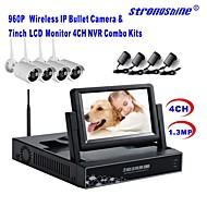 caméra IP sans fil strongshine® avec 960p / infrarouge / imperméable et NVR avec des kits lcd combo 7inch