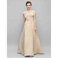 Lanting Sheath/Column Mother of the Bride Dress - Champagne Floor-length Sleeveless Chiffon