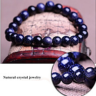 kék csillagos ég természetes valódi kristály drágakövek tibeti gyöngyös szál karkötő, unisex ékszerek