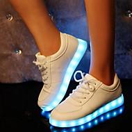 Női Kényelmes Világító cipők Szintetikus Tavasz Nyár Ősz Tél Sport Hétköznapi Party és Estélyi Kényelmes Világító cipők Csat LaposFehér