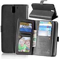 のために OnePlusケース カードホルダー / スタンド付き / フリップ ケース フルボディー ケース ソリッドカラー ハード PUレザー One Plus