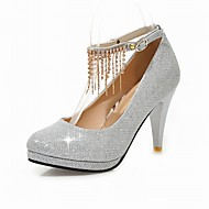 Women's Glitter Wedding Heels with Tassel/Platform Mary Jane Shoes Party & Evening/Dress Red/Silver/Gold/Black