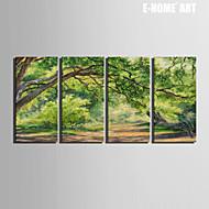 Krajina / Botanický motiv Na plátně Čtyři panely Připraveno k Pověste , Vertikální