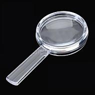 mini kannettava 2.6mm halkaisija 4x muovista läpinäkyvä suurennus (5 kpl)
