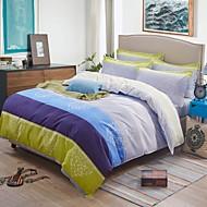 Baolisi European Concise Style Stripe Design Cotton 4-Piece Bedding Set