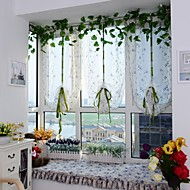 1PCS Roman Curtains Flower Embroidery Sheer Shade Balcony Windows Curtain
