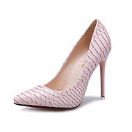 Women's Shoes Stiletto Heel Heels / Pointed Toe / Closed Toe Heels Dress Black / Pink / White / Silver