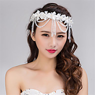 Fashion Handmade Wedding Party Women Bride Lace Head Chain Hair Decoration