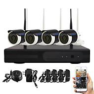 yanse® wifi IP-Kamera NVR Kit 720p CCTV-Kameras videcam Innenwasserdichte ir-Überwachungskamera Selbstverteidigung Sicherheit