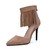 Women's Shoes Suede Stiletto Heel Heels / Fashion Boots / Pointed Toe Heels Wedding / Outdoor / Party & Evening Black
