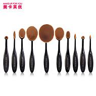 10 Set di pennelli Capelli sintetici Professionale / Coppa larga Plastic Viso / Occhi / Labbro MAKE-UP FOR YOU