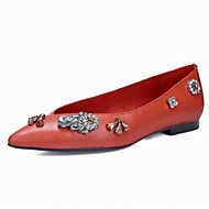 Women's Shoes Suede Flat Heel Boat / Comfort / Pointed Toe Flats Outdoor / Office & Career / Party & Evening