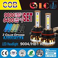 Liancheng®  60W 6400Lm 9~32V High Brightness COB LED Headlight Kit-9004/HB1 for Car,Off-road,UTV,ATV