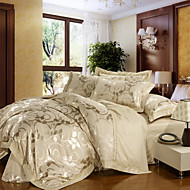 china Nobel bedding set queen king size silk+cotton blend fabric