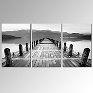 VISUAL STAR®3 Panel Black and White Canvas Print Modern Wall Art Ready to Hang