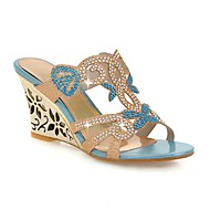 Women's Shoes Heel Wedges / Heels / Peep Toe / Slippers Sandals / Heels /Outdoor / Dress / CasualBlue /