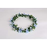 Mulheres Menina das Flores Tecido Plástico Capacete-Casamento Ocasião Especial Casual Grinaldas 1 Peça