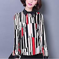 Overhemdkraag - Spandex - Geplooid - Vrouwen - Blouse - Lange mouw