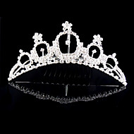 Donne Strass / Cristalli / Lega Copricapo-Matrimonio / Occasioni speciali Tiare 1 pezzo Avorio