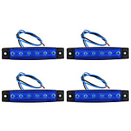 4Pz Side Lamp 6 Led Blue 12V Waterproof With Cable Car Truck Parts