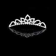 Femme Strass / Cristal / Alliage Casque-Mariage / Occasion spéciale Tiare 1 Pièce Ivoire Rond