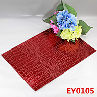 Crocodile Texture Leather Without Washing Placemat / Wedding Party Decoration / Table Decoration / Weddings / Dinner