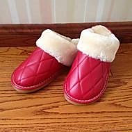 Chaussures Femme-Décontracté-Multi-couleur-Talon Plat-Bout Fermé / Chaussons-Chaussons-Similicuir