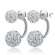 Fülbevaló Ezüst utánzat Diamond Beszúrós fülbevalók Ékszerek Női Esküvő / Parti / Napi Ezüst / Kristály 2pcs