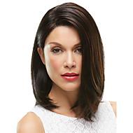 comprimento médio europeu mulheres senhora cor marrom cabelo sintético