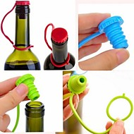 Kitchen Anti-lost Silicone Hanging Button Seasoning Beer Wine Cork Stopper Plug Bottle Cap Cover(Ramdon Color)