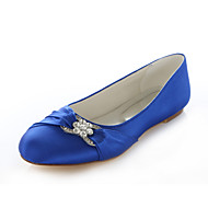 Women's Shoes Silk Flat Heel Round Toe Flats Wedding / Party & Evening / Dress Pink / Purple / Red / Silver / Royal Blue
