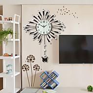 מצחיק / אחרים מודרני / עכשווי שעון קיר , פרחוניים/בוטניים / בעלי חיים / נופי / חתונה / משפחה זכוכית / מתכת 90cm x 71cm( 35in x 28in )