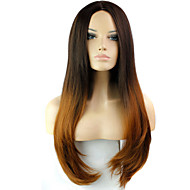 ombre perruque résistant à la chaleur féminine synthétique de mode pas cher beauté perruques deux tons