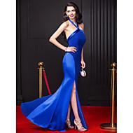 TS Couture® Formal Evening Dress Sheath / Column Halter Floor-length Chiffon / Stretch Satin with