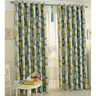 To paneler Window Treatment Moderne , Tegneserie Soverom Polyester Materiale Blackout Gardiner Hjem Dekor For Vindu