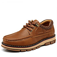 Men's Shoes Wedding / Outdoor / Office & Career / Party & Evening / Athletic / Casual Leather Boat Shoes Black / Brown