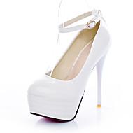נעלי נשים - בלרינה\עקבים - דמוי עור - עקבים / פלטפורמה - שחור / לבן - שמלה / קז'ואל / מסיבה וערב - עקב סטילטו