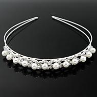 coiffes magnifiques cristaux clairs et imitation perles de diadème de mariée
