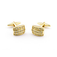 Golden Crystal Luxurious Shirt Sleeve Luxury  French Cufflinks