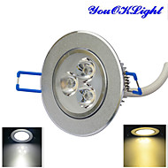 YouOKLight® 1PCS 3W Dimmable 3000K/6000K 300lm Warm White/Cool White  LED Ceiling Light Lamp (AC110-120/220-240V)
