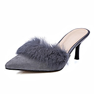 Women's Shoes Suede / Sheepskin Stiletto Heel Heels / Slingback / Pointed Toe Heels / Clogs & Mules Outdoor