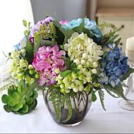 12 PCS Colour Tie-In Floriculture Group Artificial Flower(Hydrangea+Berry+Plant)
