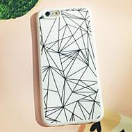 preto e branco padrão triângulo de volta caso para iphone 6s 6 mais