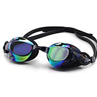 Óculos de Natação Anti-Nevoeiro Tamanho Ajustável Proteção UV Lente Polarizada Prova-de-Água Gel Silica PC Branco Cinzento PretoRosa